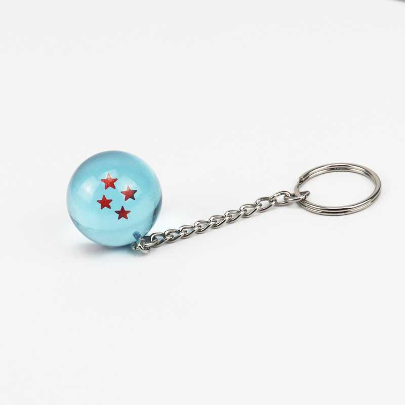 Mini Japonês Anime Dragon Ball Brinquedos Keychain Bolsa Charme Cristal Cores Dragão Bola Criança Brinquedos Presentes Keychain Charme Estrela- TOY168