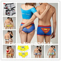 High quality new 2017 100% cotton cartoon lovely lover's cotton underwear Boxer Shorts (1 lot =1 lady and 1 men underwear )