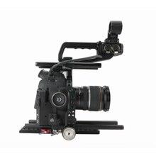 C100 rig tilta 15mm para canon c100 câmera baseplate + gaiola dslr rig