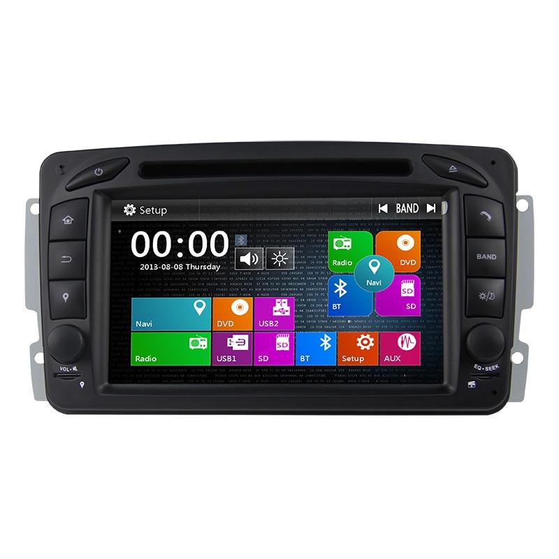 Lecteur DVD de voiture 2din 7 pouces pour Mercedes Benz W209 W203 W168 M ML W463 Viano W639 Vito Vaneo 3g GPS Navi BT Radio USB SD carte gratuite
