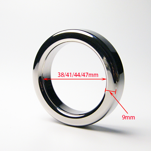 9mm Thickness Metal Stainless Steel Cock Ring Penis Ring Penis Sleeve Lock Ring Delay Ejaculation Loop Adult Sex Toys For Men