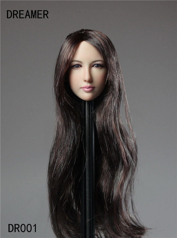 "1:6 Scale Dragon Lady Long Hair Head For 12/"" Female Figure Body"