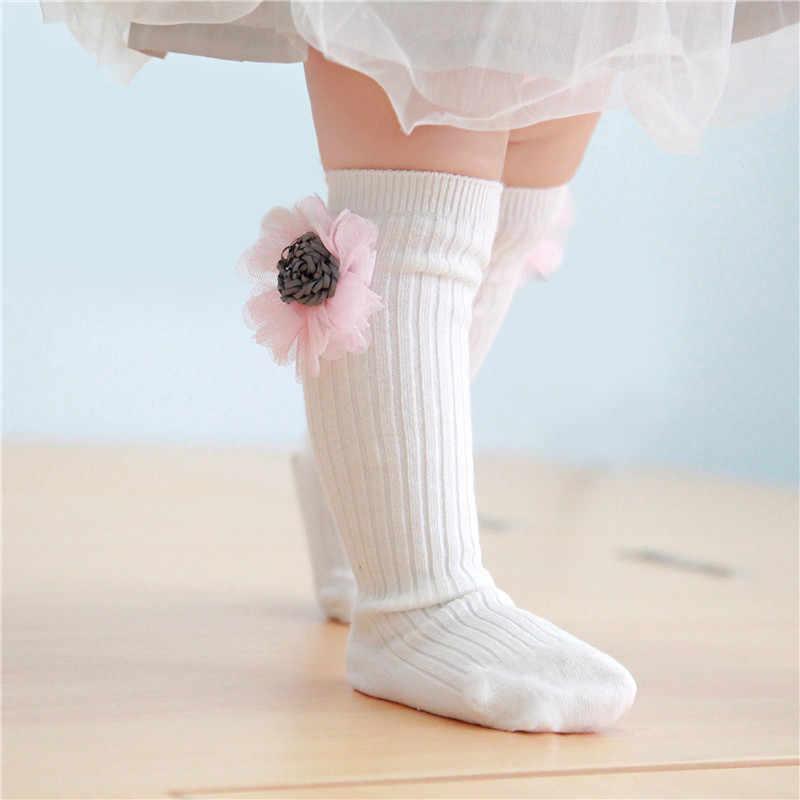 2018 calcetines de algodón para niñas con patrón de dibujos animados en 3D calcetín de color liso para recién nacidos con Gato conejo estrella Skarpety infantil primavera otoño