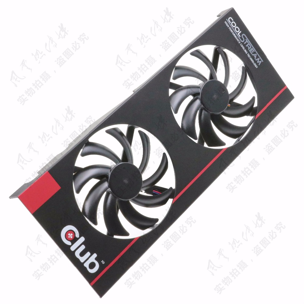 New Original for DATALAND Club 3D R9 280X Graphics card cooling fan free shipping radiator computer cooler dc brushless fan for club 3d for radeon r9 280x royalking video vga graphics card cooling