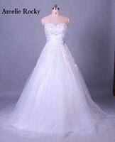 Sophoneiya Real Sample White Beads Applique Lace Wedding Dress Elegant Women Cheap Wedding Dress Vestido De