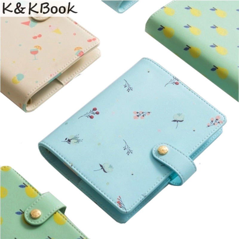 K&KBOOK A6 A7 PU Leather Candy Color Hello Summer Personal Diary Planner Kawaii Cute Notebook Sweet Agenda Organizer Stationery