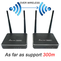 300 м (984ft) беспроводной HDMI передатчик приемник с ИК-пультом дистанционного управления HDMI беспроводной удлинитель поддержка 1080 P wifi отправите...