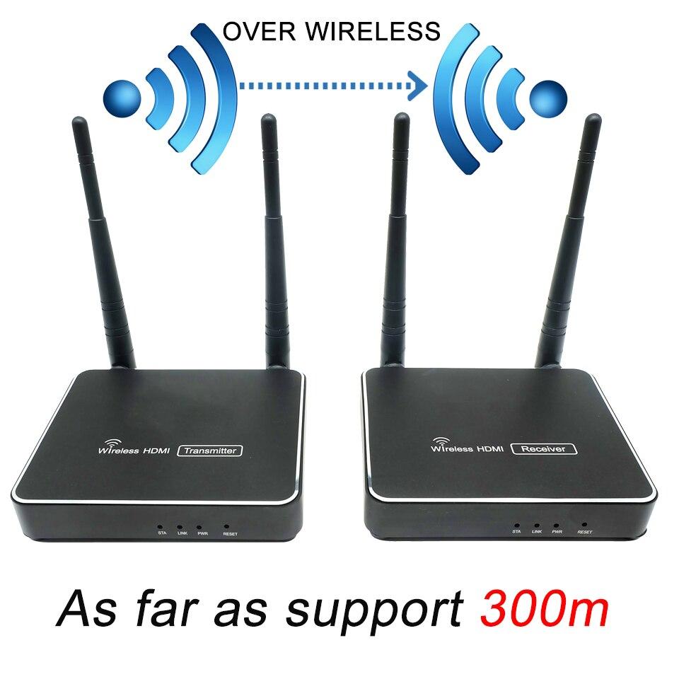 300 m (984ft) sans fil HDMI émetteur récepteur avec télécommande IR HDMI sans fil Extender soutien 1080 P WIFI émetteur récepteur