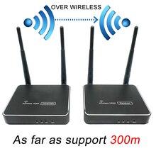 300 м (984ft) беспроводной HDMI передатчик приемник с ИК-пультом дистанционного управления HDMI беспроводной удлинитель поддержка 1080 P wifi отправитель приемник