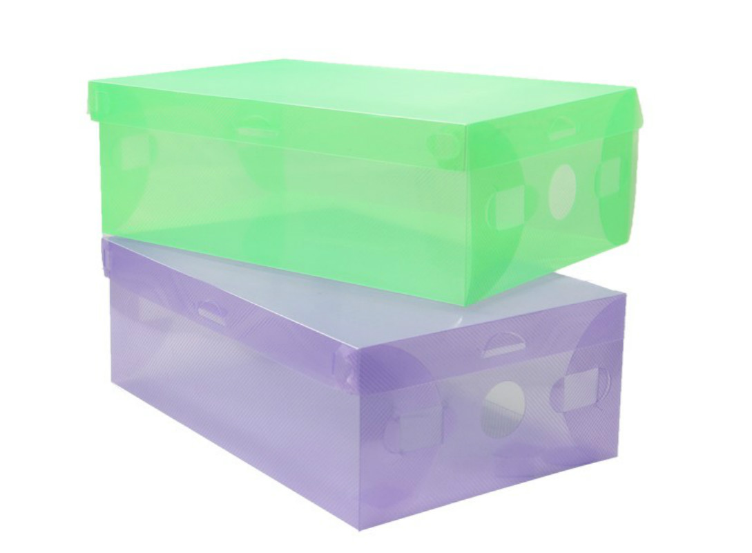 shoe box clear transparent drawer case plastic shoe boxes storage organizer stackable box free shipping