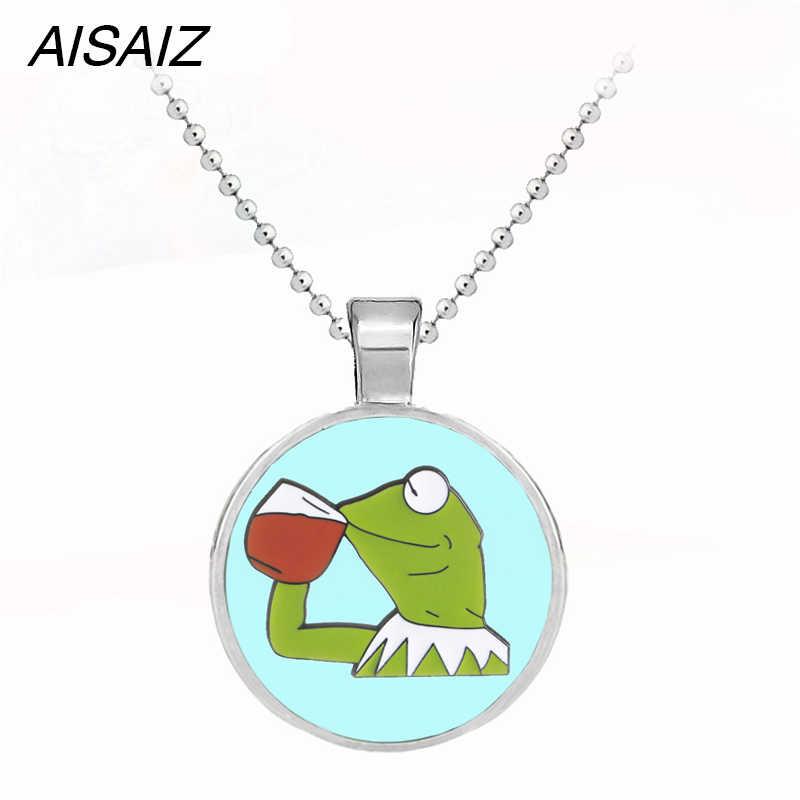 Joyería de moda Linda Rana Gustavo el collar de la rana colgante llavero esmalte de alta calidad mejor regalo de Navidad para niños