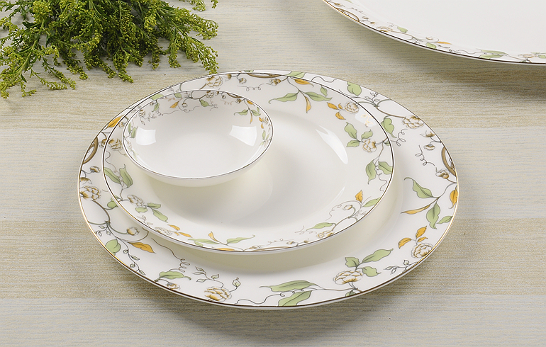 3pcs Lot 10 Amp 8 Amp 4 Inch Bone China Dinner Plate Set