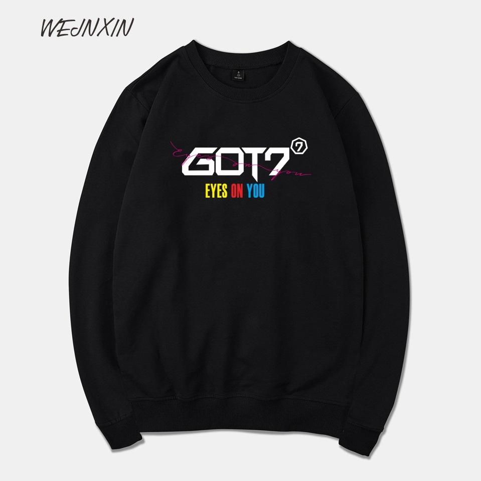Women's Clothing Wejnxin Got7 Eyes On You Fleece Capless Hoodies For Women Men Unisex Streetwear Jackson Mark Bambam Sweatshirt Black Clothing To Assure Years Of Trouble-Free Service