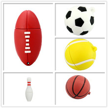 USB stick pen drive cartoon football/basketball usb flash 4GB 8GB 16GB 32GB 64GB tennis/bowling memory pendrive cle