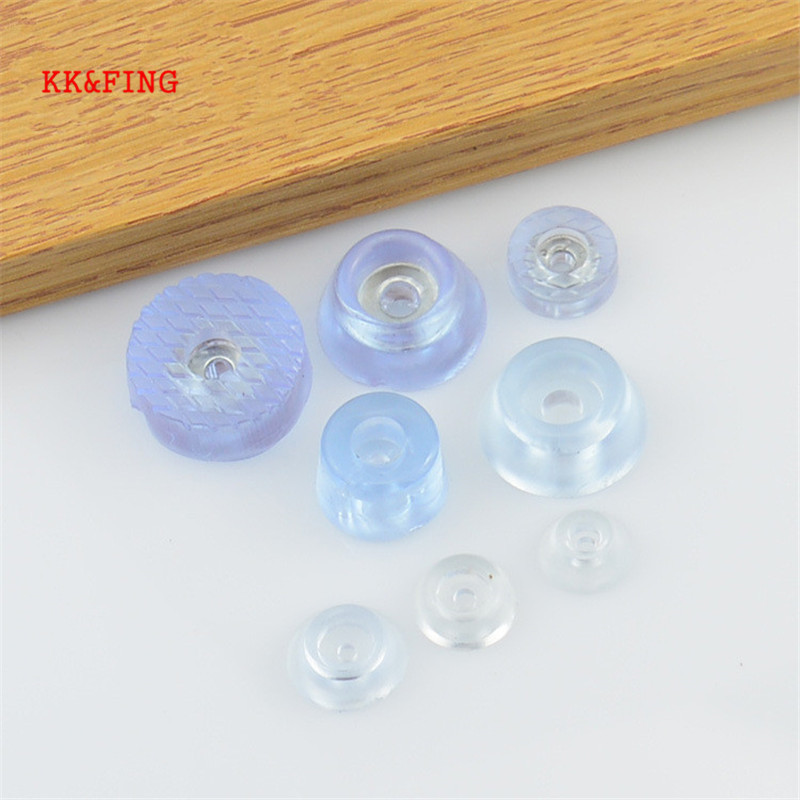 KK&FING 20pcs Soft Transparent Non-slip Pads Chair Table Feet Leg Bottom Pads Furniture Sofa Stool Foot Covers Floor Protectors