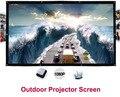 150 polegadas 16:9 Portable Wall Mounted Branco Fosco Tela de Projeção Dobrável de Lona Ao Ar Livre para Display LED LCD HD Projetor de Cinema