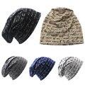 Шляпа шапочки зимние шапки cap женщины Мужчины Тонкий Шляпа Унисекс зима Трикотажные Письмо Печати больше цвета Хип-Хоп Cap высоким доставленных DM #6