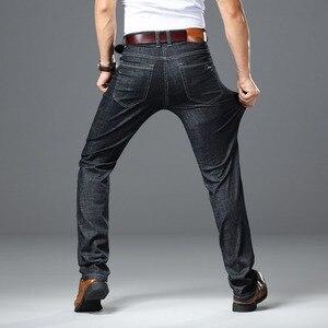 Image 3 - 2020 גברים של סתיו חורף כותנה ג ינס גברים למתוח עסקי מכנסיים אופנה מכנסיים ג ינס ז אן Mens ג ינס גדול גודל 35 40 42 44 46