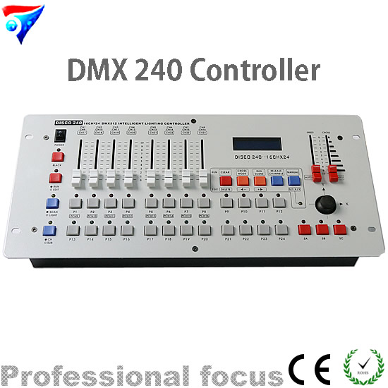 Free Shipping 240 DMX Controller Stage Lighting Dmx Console dmx512 digital display 24ch dmx address controller dc5v 24v each ch max 3a 8 groups rgb controller