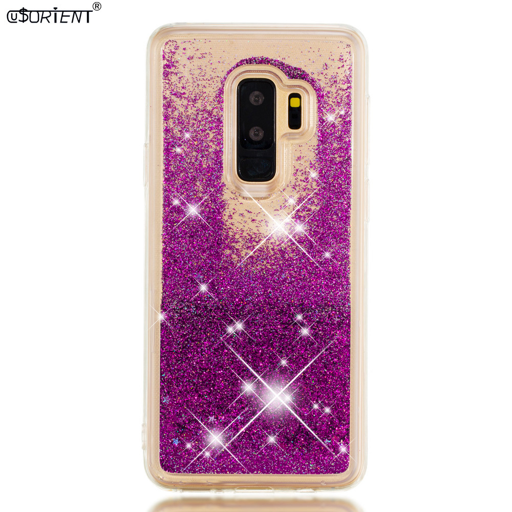 S9 Plus Dynamic Liquid Quicksand Bumper Case Sm-g965f Sm-g965f/ds Sm-g965n Sm-g965u Soft Back Cover Half-wrapped Case Temperate Funda For Samsung Galaxy S9 Phone Bags & Cases