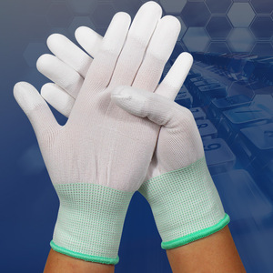 Image 4 - 1pair Antistatic Gloves Anti Static ESD Electronic Working Gloves pu coated palm coated finger PC Antiskid for Finger Protection