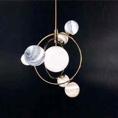 Aro деко с бусинами из цветного стекла люстры nordic G9 светодиодная лампочка лампа ресторан столовая Бар Магазин осветительных приборов AC110-265
