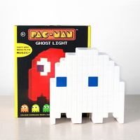 PacMan Ghost Light LED Night Light Multicolor Cartoon Night Lamps USB Rechargeable For Children Kids Room Decoration Lighting