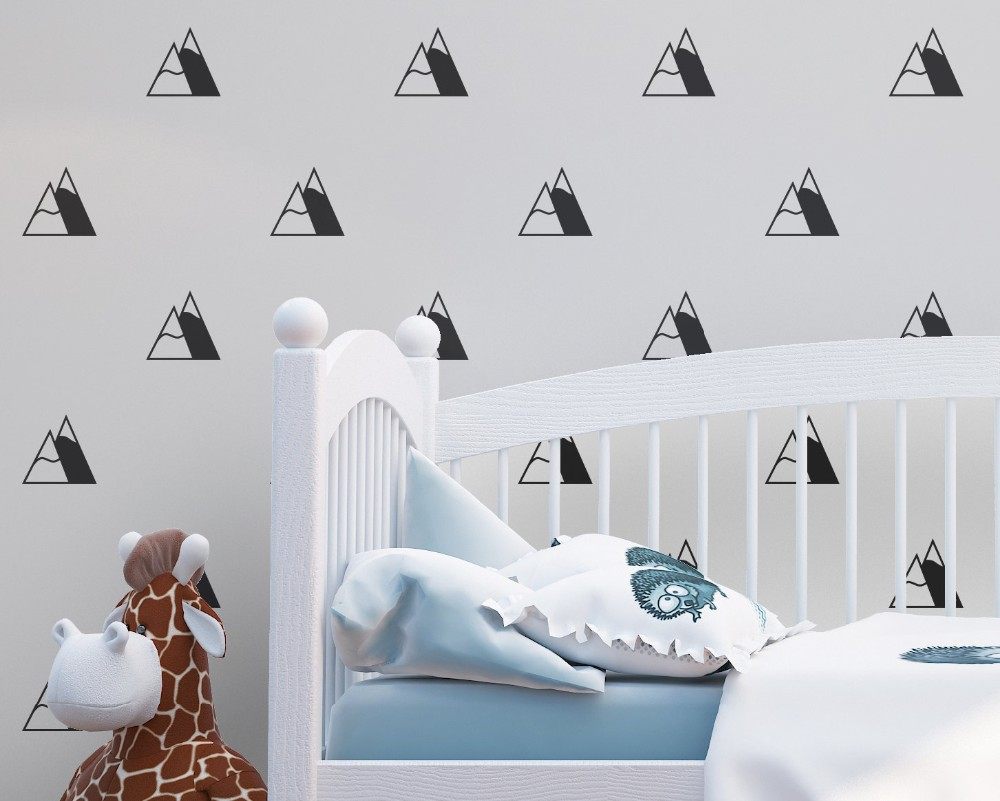 Little Mountain Set Patterned Wall Stickers Home Livingroom Special ...