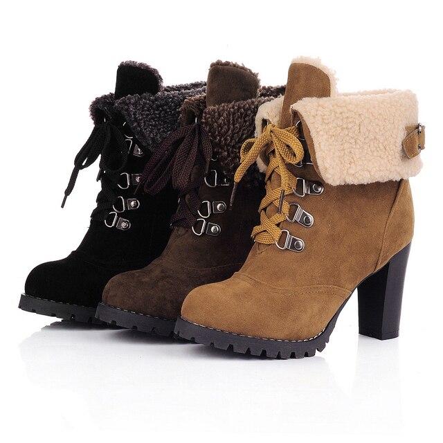 625792bc6 De tacón alto botas de mujer de marca tobillo invierno mujer zapatos de  invierno tacon caída