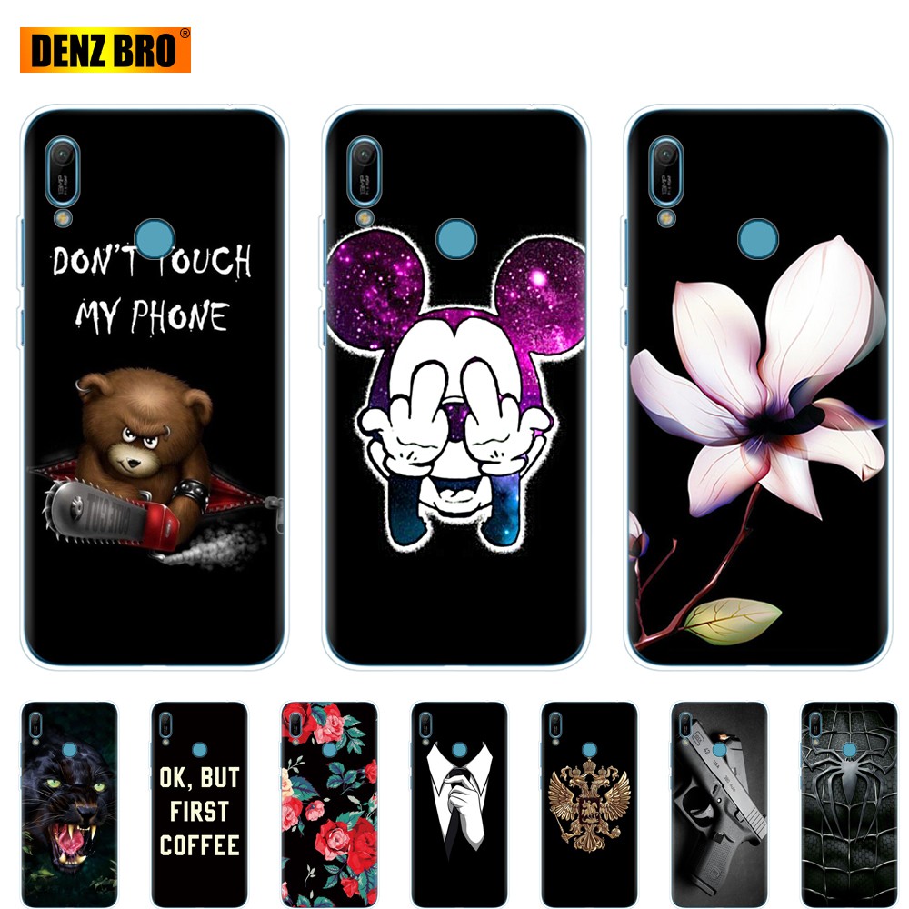 For <font><b>Huawei</b></font> <font><b>y6</b></font> <font><b>2019</b></font> <font><b>Case</b></font> <font><b>Huawei</b></font> <font><b>Y6</b></font> <font><b>2019</b></font> Silicon TPU <font><b>Cover</b></font> Soft Phone <font><b>case</b></font> For <font><b>Huawei</b></font> <font><b>Y6</b></font> <font><b>2019</b></font> MRD-LX1 MRD-LX1F Y 6 pro Y6Prime bag image