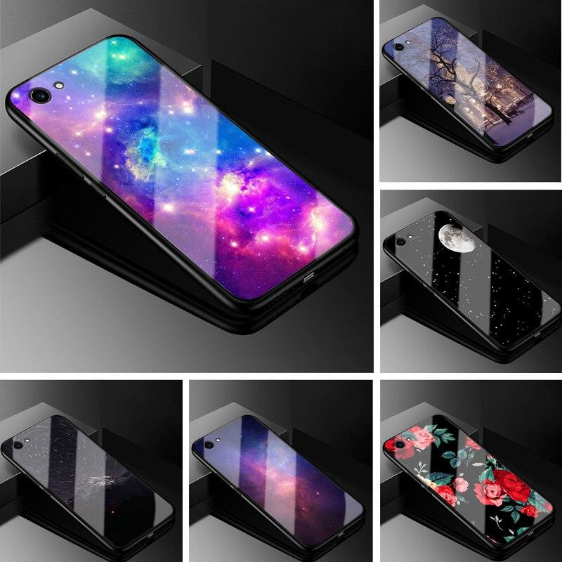 Phone Case For Vivo Y81 Y 81 Vivoy81 Case Glass Hard Cover For Vivo Y81 Case Tempered Cool Fashion Coque For Vivo 1808 6.22''