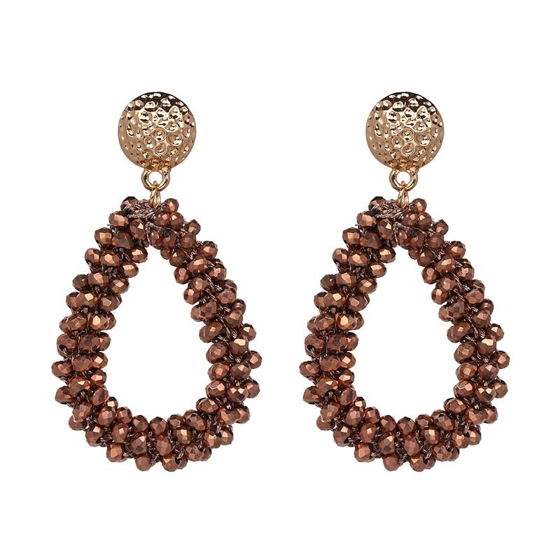 11 Farben Neue Glänzende Bling Perlen Kristall Tropfen Fashion-statement Schmuck Hochzeit Baumeln Ohrring Für Frauen Großhandel