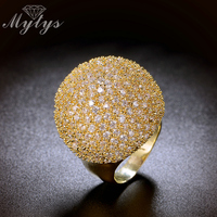 Pave Setting Crystal Luxury Ring Fashion Gorgeous High Quality Jewelry 2016 New Big Rings R1048 R1049