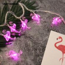 Yingtouman Фламинго Тип Вилки светодиодные лампы строки для рождественской вечеринки фестиваль праздник декоративные Освещение 7 м 50LED