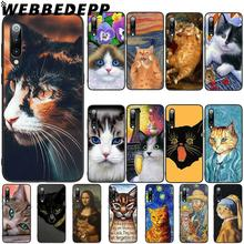 WEBBEDEPP Funny Pat Cat Art Aesthetics Soft TPU Case Cover for Xiaomi Mi 6 8 A2 Lite 6 9 A1 Mix 2s Max 3 F1 Case webbedepp little mix soft tpu case cover for xiaomi mi 6 8 a2 lite 6 9 a1 mix 2s max 3 f1 case