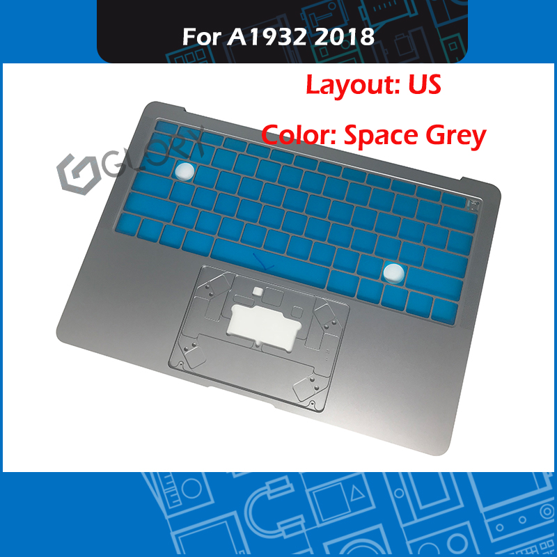 """Brand New Laptop A1932 Top Case US Layout Space Grey for Macbook Air Retina 13"""" A1932 Palm rest Late 2018 EMC 3184 MRE82"""