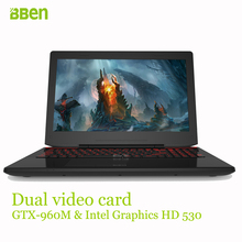 Bben B6 laptop computer 15.6inch DDR4 8GB/16GB, 128GB m.2 SSD+1TB HDD M.2 wifi bluetooth intel i7-6700HQ quad cores windows10(China (Mainland))