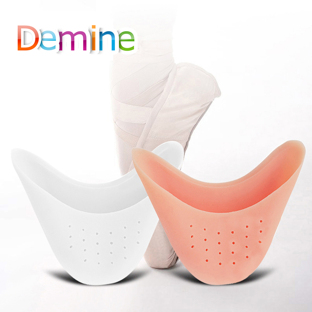 Demine Silicone Gel Toe Pads Soft Ballet Pointe Dance Shoes Toes Covers Foot Tip Cushion Insoles for Dancer Breathable Inserts Demine Silicone Gel Toe Pads Soft Ballet Pointe Dance Shoes Toes Covers Foot Tip Cushion Insoles for Dancer Breathable Inserts