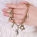 2016 Summer New Fashion Bohemian Boho Bracelets With Alloy Scissors Comb Blower Pendant Charm Bracelet Women Accessory SH450001