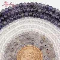 4x6mm, 4x7mm Facettes Rondelle Quartz Naturel Pierre Perles Pour DIY Collier Bracelet Bijoux faire Spacer Strand 15