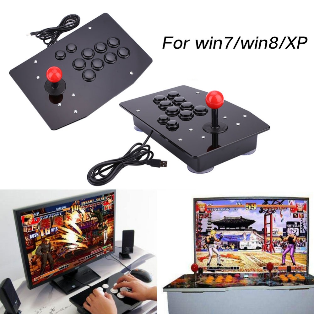 Arcade Joystick 10 Buttons USB Fighting Stick Joystick Gaming Controller Gamepad Video Game For PC Joystick Consoles GiftsArcade Joystick 10 Buttons USB Fighting Stick Joystick Gaming Controller Gamepad Video Game For PC Joystick Consoles Gifts