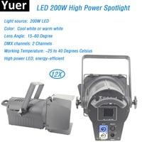 12 шт./лот светодиодный spotlight 200 Вт светодиодный светильник Par светодиодный 4 30 м оптимальное расстояние проекции dmx 220 Вт мощность светодиодны