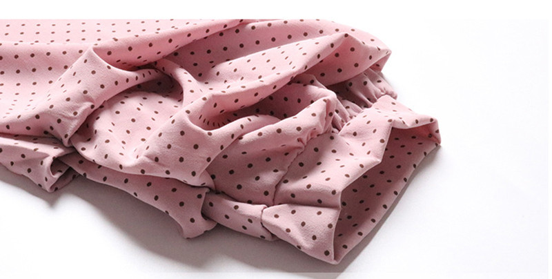 Gladiolus Chiffon Blouse Women 2019 Spring Autumn Long Sleeve Polka Dot Off Shoulder Sexy Blouses Women Shirts Ruffles Blusas (12)