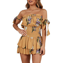 f5d38760dd8 (Ship from US) feitong Womens Jumpsuit short Floral Printting Cocktail  Party jumpsuits for women 2019 Pencil Midi Rompers Jumpsuit  w35