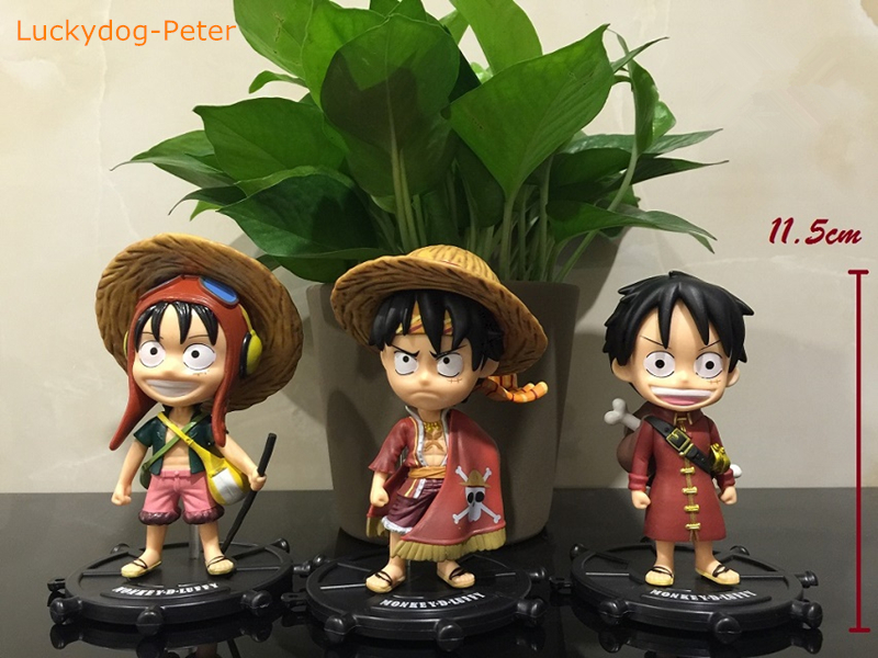 Generous One Piece Luffy 74 Edition 3 Pieces Of Action Figures Monkey D Luffy Dolls Pvc Acgn Figure Toys Brinquedos 11.5cm Ample Supply And Prompt Delivery Toys & Hobbies