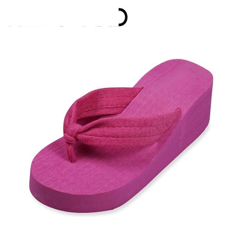 2016 New Summer Sandals Casual Style Solid Platform Wedges Heavy-bottomed Flip Flops Shoes Woman Size 35- 40 XWT163 slketu gladiator sandals summer style flip flops elegant platform shoes woman pearl wedges sandals casual women shoes st529 5