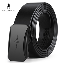 Williampolo 2019 New Arrival Genuine Leather Business Men Belt Designer Strap Automatic Buckle Wasitband PL18228-72-73P