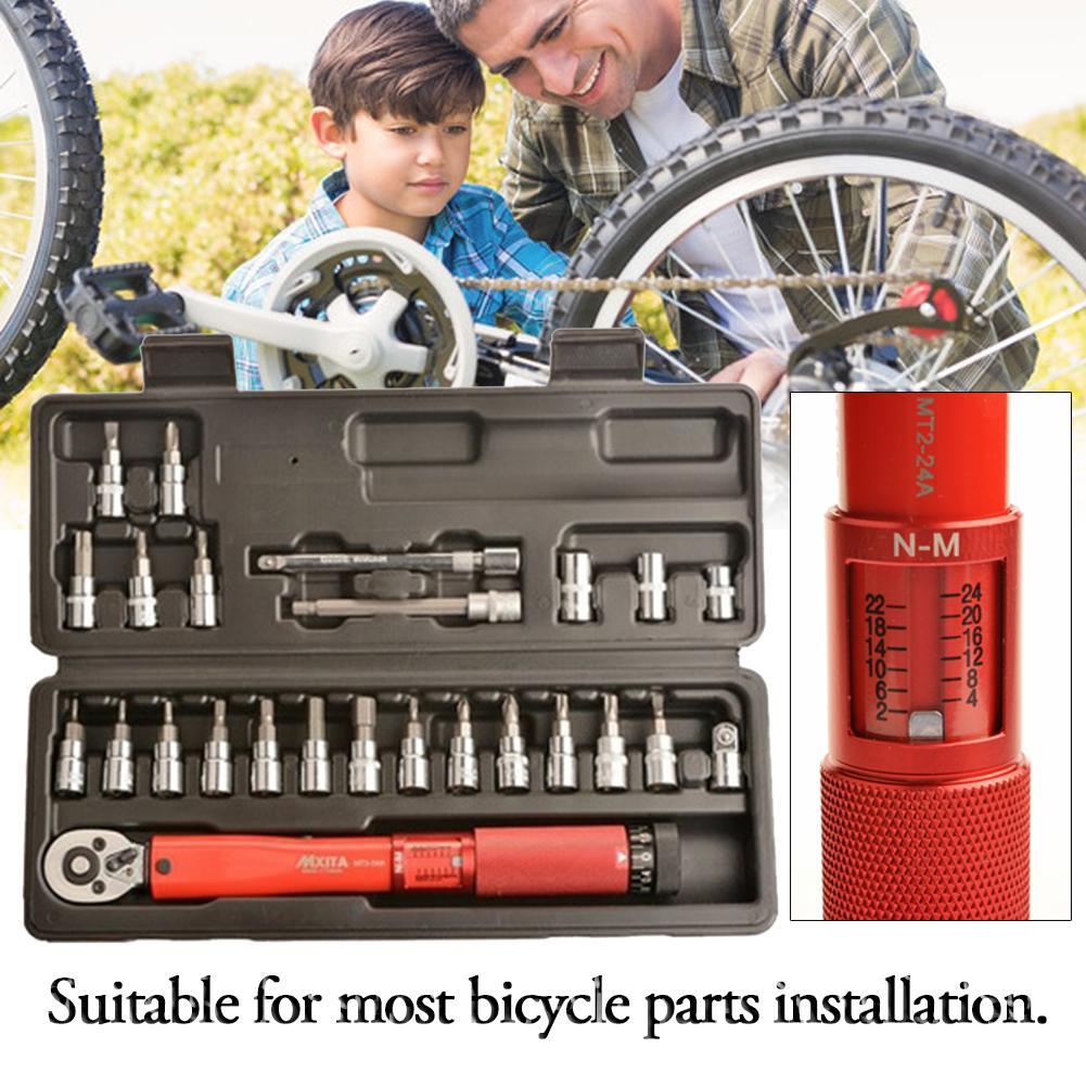 20/25 piezas de la bicicleta herramienta de acero ajustable llave Allen herramienta clave hembra Kit 2-24NM reparación herramientas de alta calidad - 5