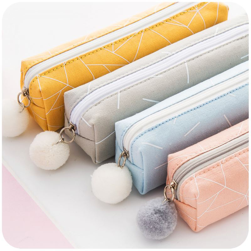 US $1.62 26% OFF|Pencil case New Concise Solid Color School Pencil Bag For Girls Boys Gift Canvas Pencilcase Kawaii Stationery Office Supplies   -in Pencil Cases from Office & School Supplies on Aliexpress.com | Alibaba Group
