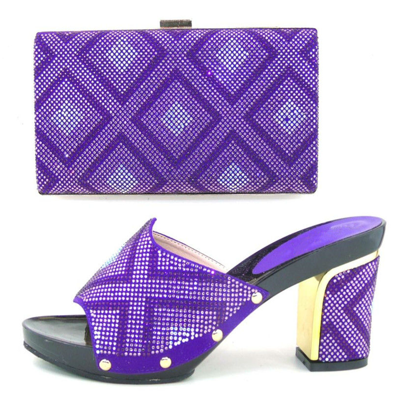 ФОТО Wholesale italianwomen shoes and bags to match set sale fashion design. Heel 9cm CP2106 PURPLE